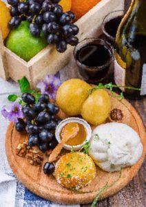 Stůl se zdravým jídlem