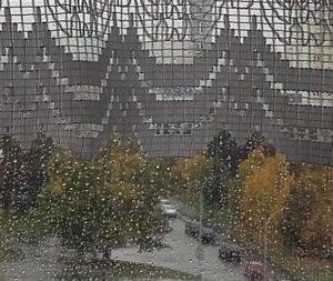 Prší za oknem