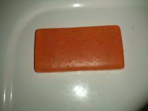 Oranžové tuhé mýdlo