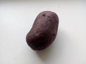 Neoloupaná fialová brambora